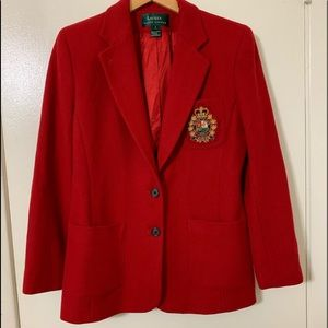 Ralph Lauren Blazer , Golden Crown Emblem , Size 6